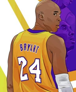 Kobe Bryant Illustration paint by numbers
