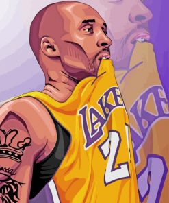 Kobe Bryant Player paint by number