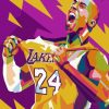 Kobe Bryant Pop Art Paint by numbers