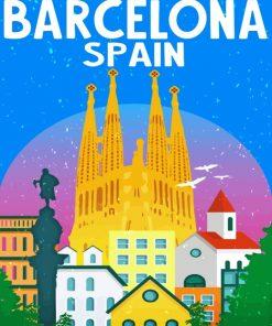 La Sagrada Familia Barcelona paint by numbers