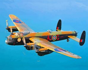 Lancaster Aircraft paint by numbers