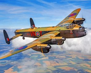 lancaster bomber paint by number