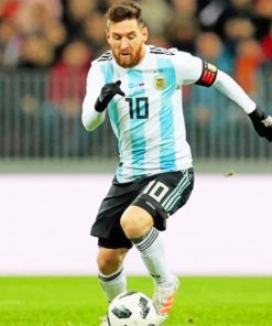 Lionel Messi Player paint by numbers