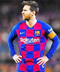 Lionel Messi In Barcelona Jersy paint by numbers
