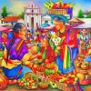 market scene paint by numbers