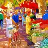 market scene paint by number