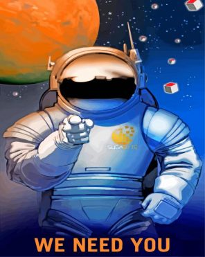 Nasa Man paint by numbers