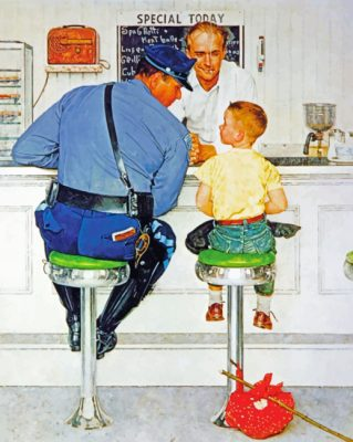 The Runaway Norman Rockwell  paint by numbers