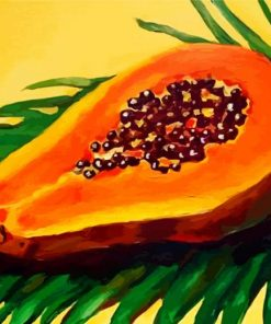 Papaya Illustration paint by numbers