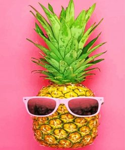 Pineapple Wearing Glasses paint by numbers