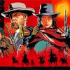 red dead redemption poster paint by numbers