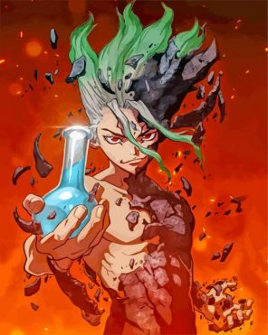 Senku Ishigami Dr Stone paint by numbers