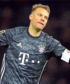 The Professional Footballer Manuel Neuer paint by numbers