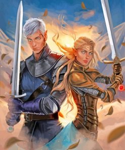 Throne Of Glass Art paint by number