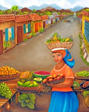 traditional market paint by numbers