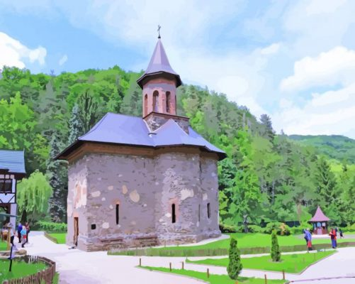 Transylvania Prislop Monastery paint by numbers