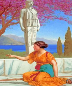 william Godward Ancient Pastimes paint by number