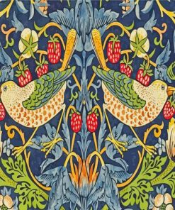 william morris strawberry thief paint by numbers