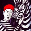 Zebra And Mime paint by numbers