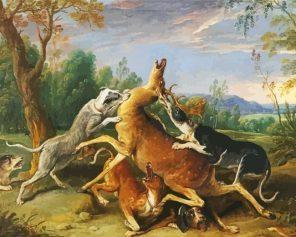 Deer Hunting paint by numbers