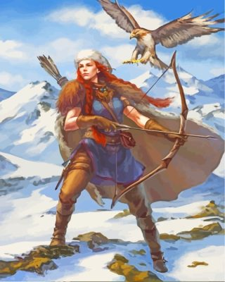Ginger Girl Hunter paint by numbers