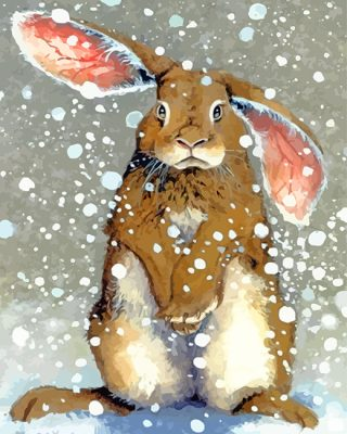 Rabbit In Snow panels paint by numbers